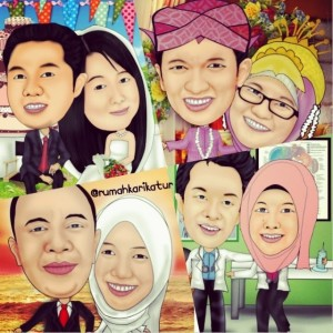 Karikatur Kartun Wedding
