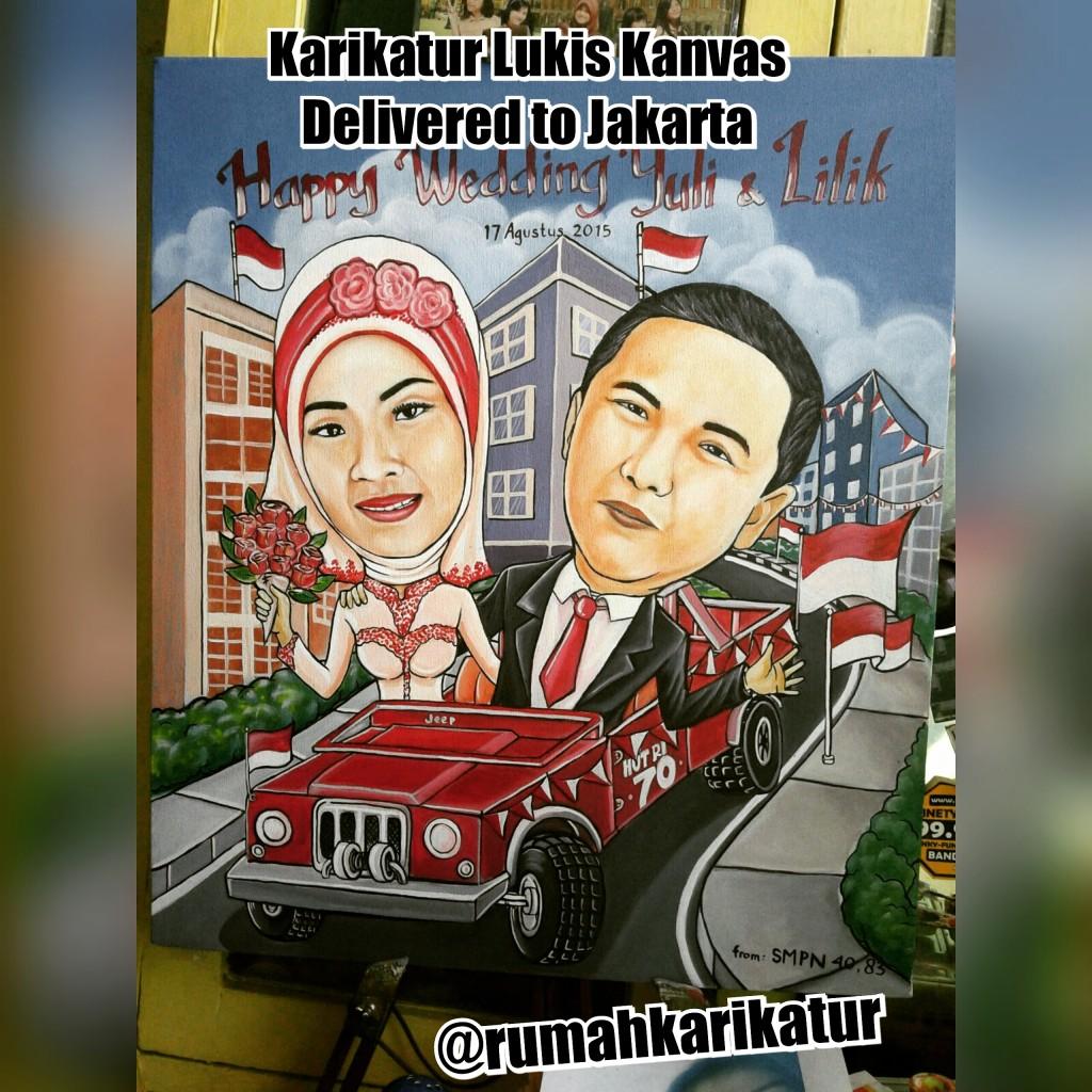 Karikatur Pernikahan Yuli dan Lilik