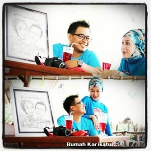 Karikatur Hadiah Wedding