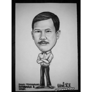 Karikatur Handmade PT.INTI untuk Rekan Kerja