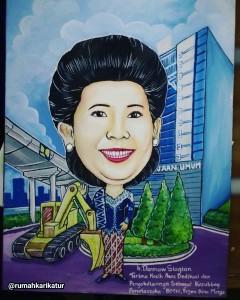 Lukisan Kanvas untuk Hadiah Perpisahan Kementerian Pekerjaan Umum
